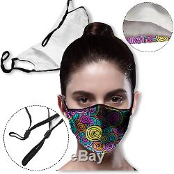 Personalized Custom Face Mask Printed with Your Logo /Message full color 25 QTY