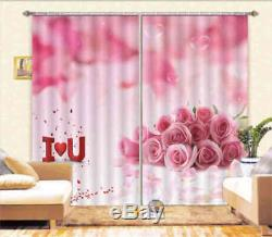 Picture Full Of Love 3D Curtain Blockout Photo Printing Curtains Drape Fabric