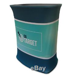 Rectangle Counter Fabric Display Stand Printed Graphics Popup Exhibition Stand