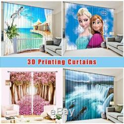 Red Flower Full Tree 3D Blockout Photo Curtain Print Curtains Fabric Kids Window