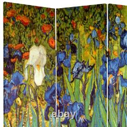 Room Divider 64 in. X 71 in. 4-Panel Folding Double-Hinge Canvas Printed