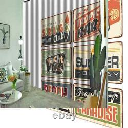 Small card full of positive energy Printing 3D Blockout Curtains Fabric Window