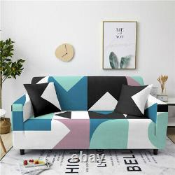 Sofa Cover Geometry Printing Full-cover 3D Slipcover Protector Polyester Fabric