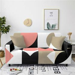 Sofa Cover Geometry Printing Slipcover Full-cover Polyester Fabric 3D Protector
