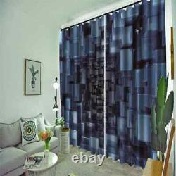 Space full of sense of technology Printing 3D Blockout Curtains Fabric Window