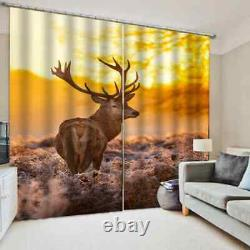 Tired deer full of vicissitudes Printing 3D Blockout Curtains Fabric Window