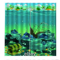 Underwater world full of treasures Printing 3D Blockout Curtains Fabric Window