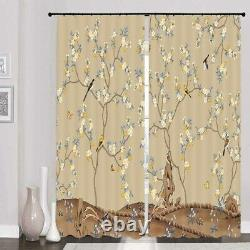Unique yellow flowers full of trees Printing 3D Blockout Curtains Fabric Window