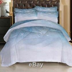White fly Seagull 3D Printing Duvet Quilt Doona Covers Pillow Case Bedding Sets